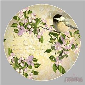 手绘花鸟陶瓷餐具图案