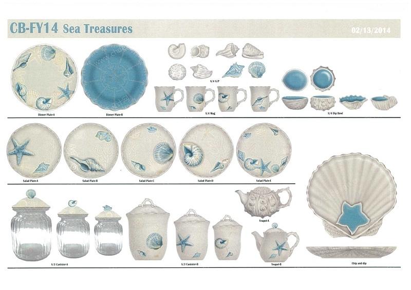 海洋陶瓷餐具