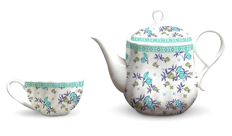 欧式小碎花茶具