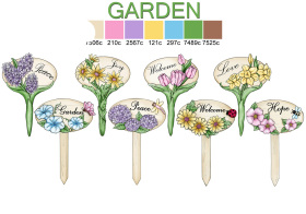 花园树脂小插牌