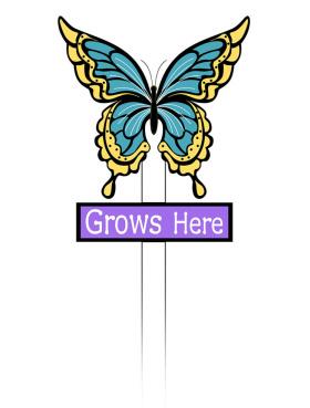 花园蝴蝶铁艺插件