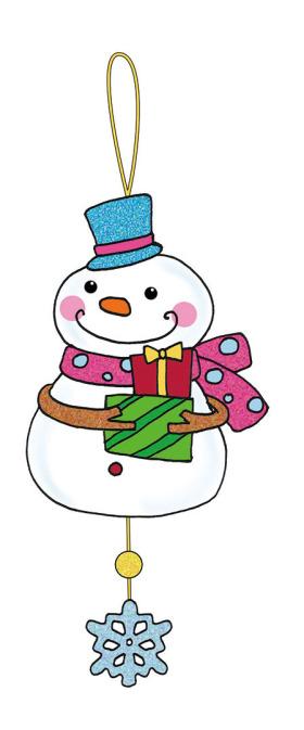 可爱圣诞雪人挂件