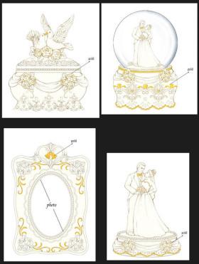 情人节婚礼树脂水球相框摆件
