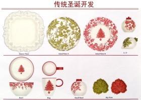 传统圣诞陶瓷餐具开发