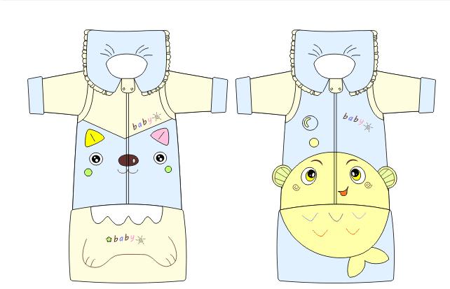 婴儿可爱动物睡袋