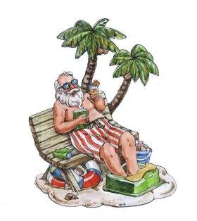 圣诞老公夏威夷摆件