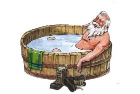 圣诞老公沐浴摆件