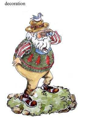 圣诞老公摆件