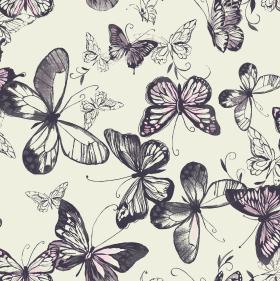 家纺花型图案蝴蝶