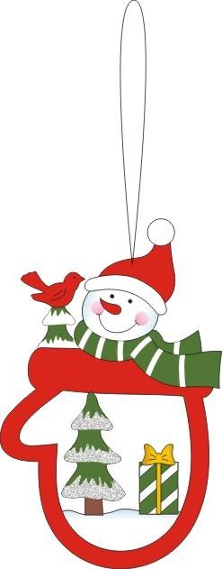 圣诞雪人装饰挂件