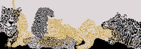 豹纹围巾印花