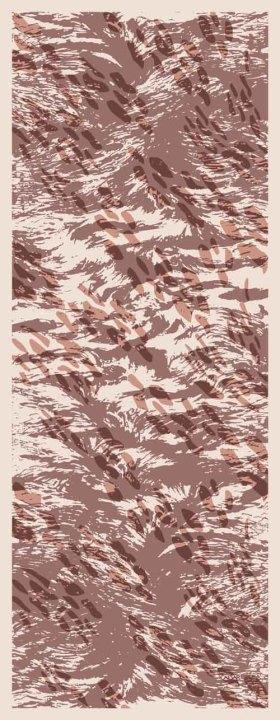 山行肌理围巾印花