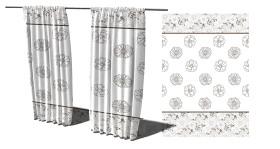 时尚窗帘图案设计
