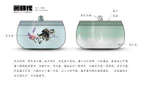 新中式陶瓷制品儲物罐茶葉罐明月