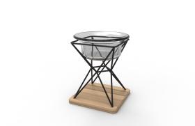 铁木玻璃烛台