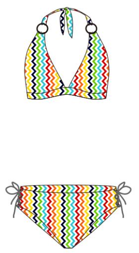 时尚现代小碎花涂鸦女式泳装背心比基尼