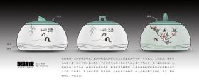 新中式陶瓷制品儲物罐茶葉罐春江水暖