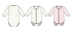 婴儿长袖三角哈衣