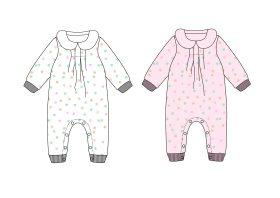 婴儿长袖满印连体衣