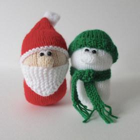 针织圣诞老人和雪人