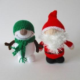 针织圣诞老人和雪人2