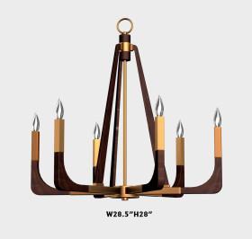 美式實木臺燈