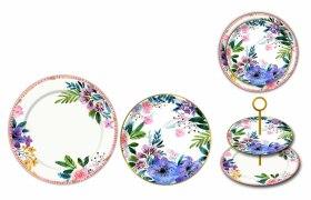 水彩花餐具花纸