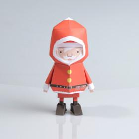 Boogiehood纸质玩具——圣诞老人