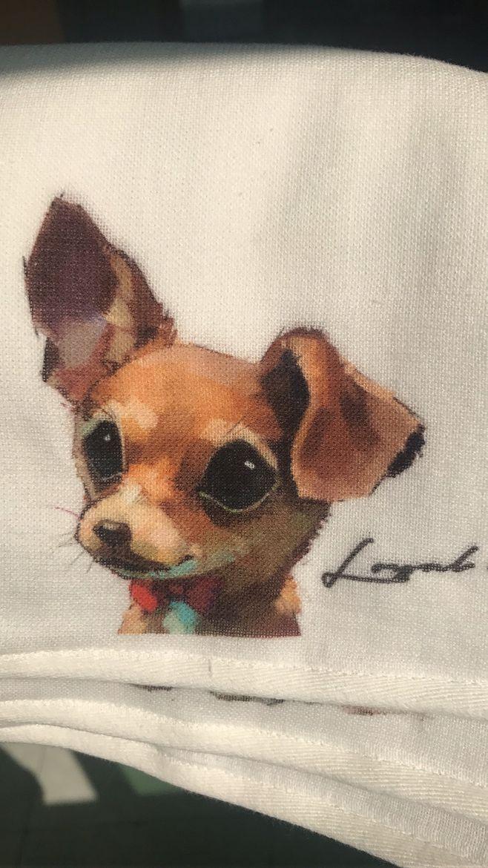 狗狗毛巾图案
