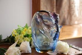 现代新中国风琉璃水晶花瓶