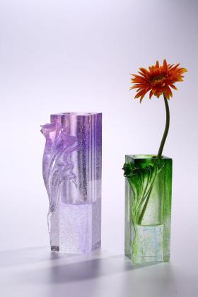 北欧现代自然风水晶琉璃花瓶