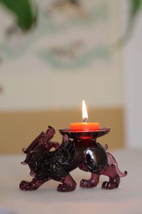 琉璃貔貅烛台/香薰座