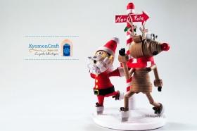 圣诞老人和鹿