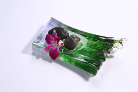 简约自然风水晶琉璃香薰盘