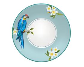 陶瓷鹦鹉花纸设计