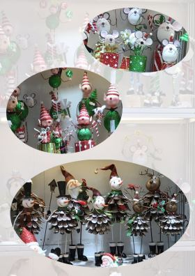 圣诞节铁艺松果系列