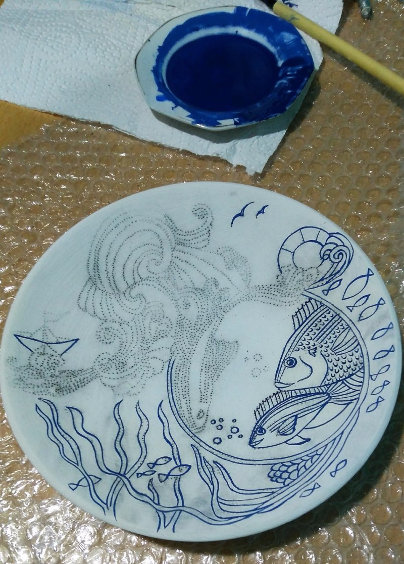 陶瓷图案设计——海的故事