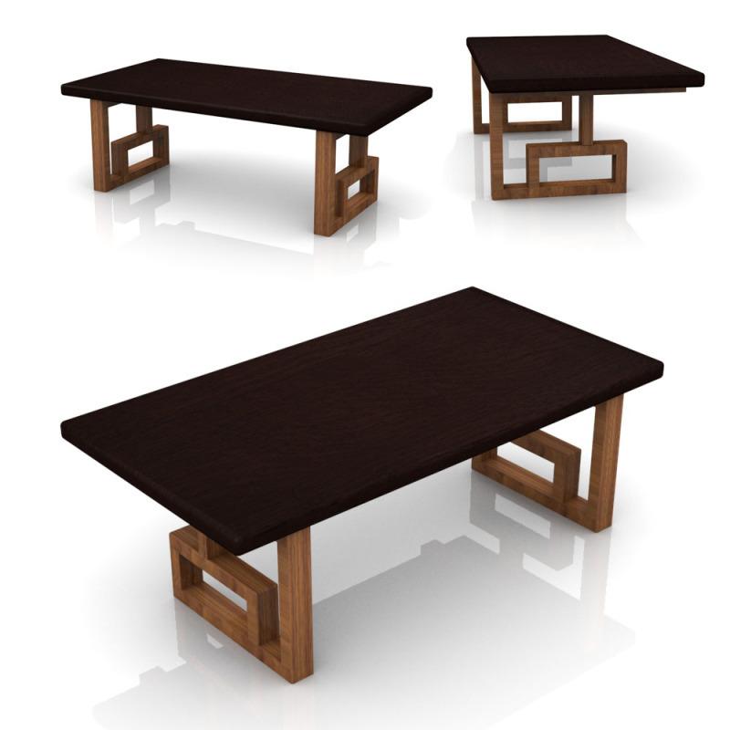 出口日本韩国新中式回纹国学桌榻榻米桌琴桌飘窗桌