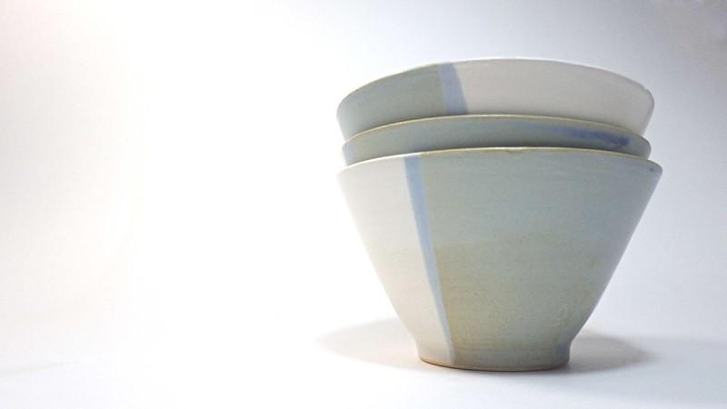 Bodam蓝白色陶瓷碗