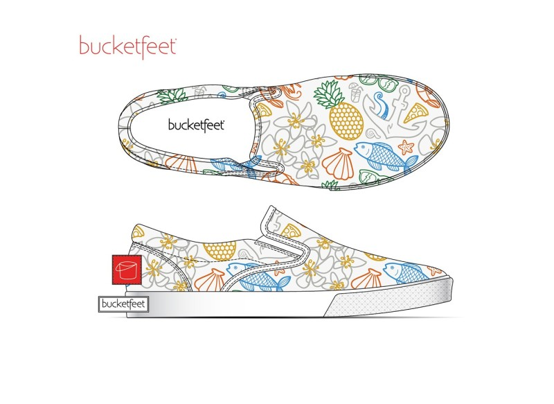 Bucketfeet鞋面图案设计