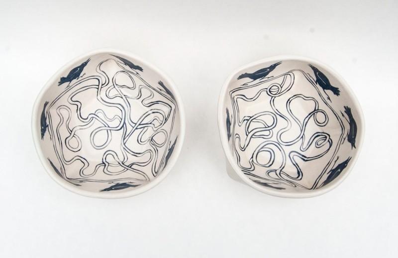 陶瓷碗-乌鸦图案