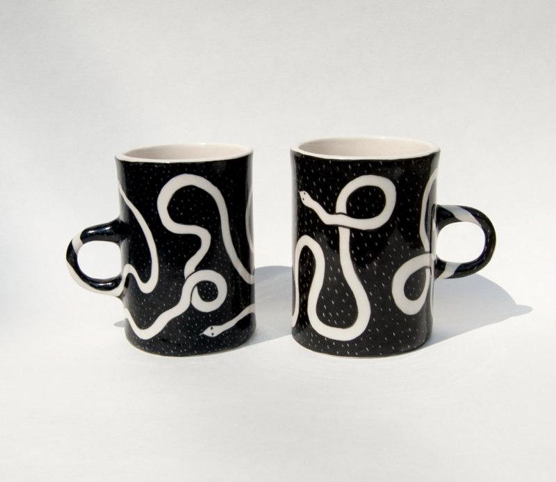 陶瓷马克杯-蛇图案