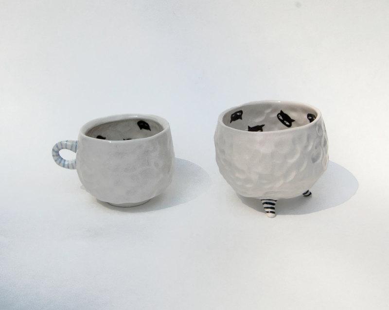 陶瓷杯隐藏的猫