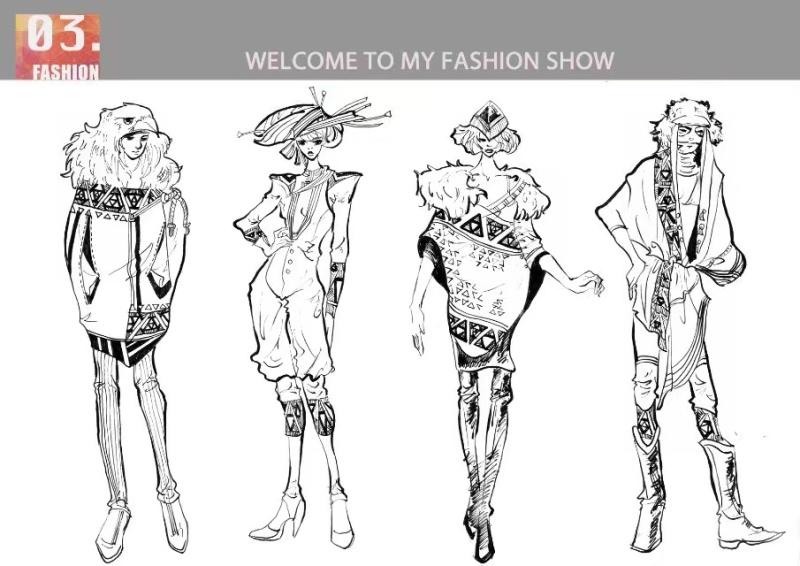 服装手绘参赛作品