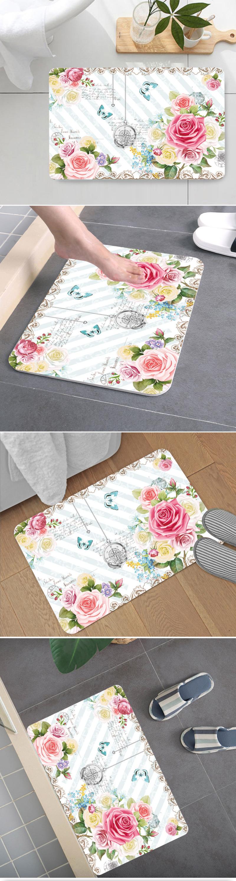 手绘花卉地毯