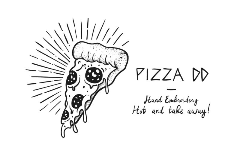 披萨图案服装