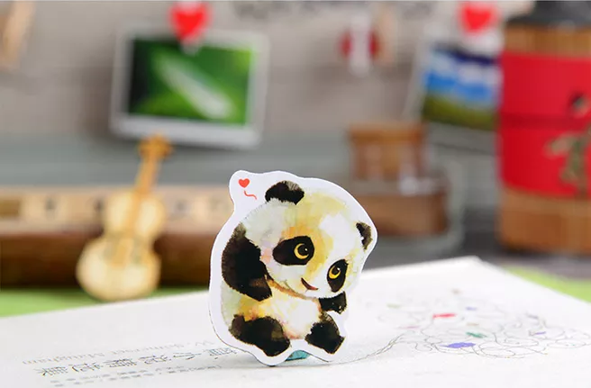 熊猫卡通冰箱贴贴纸
