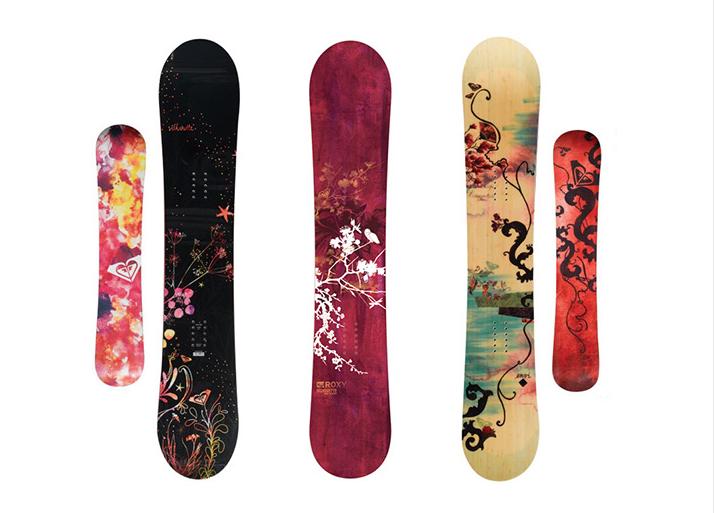 Roxy滑雪板图案设计3