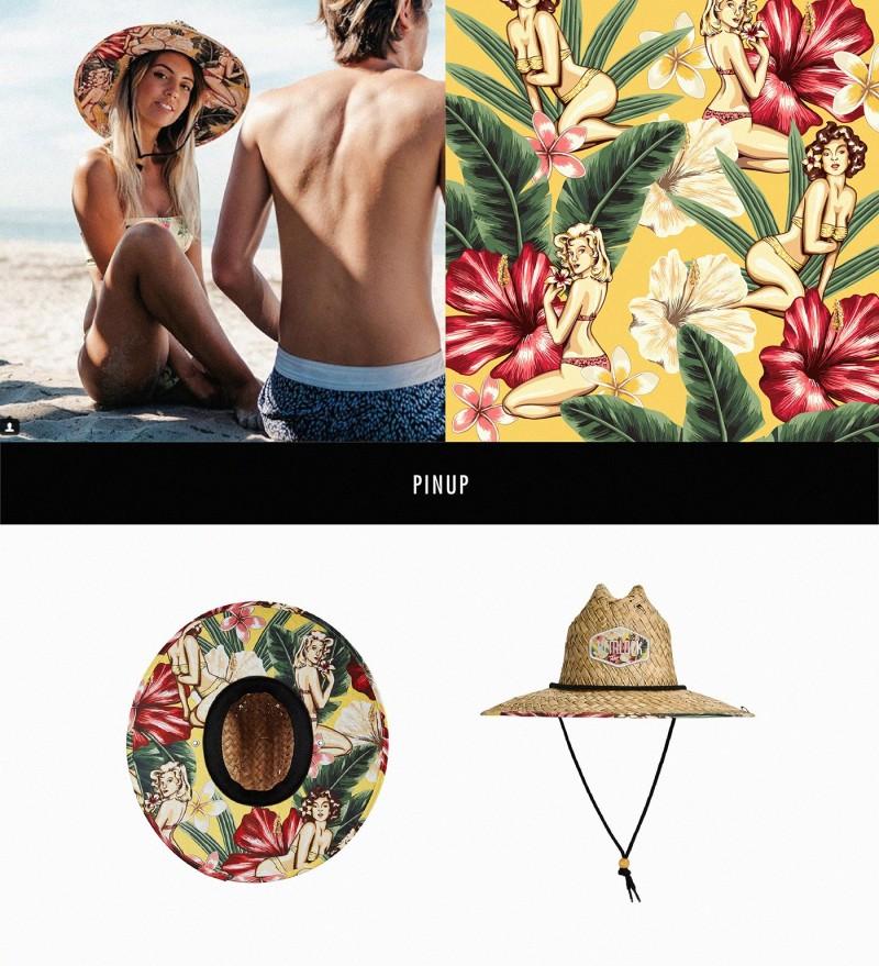 Hemlock Hat帽子图案设计——海报女郎