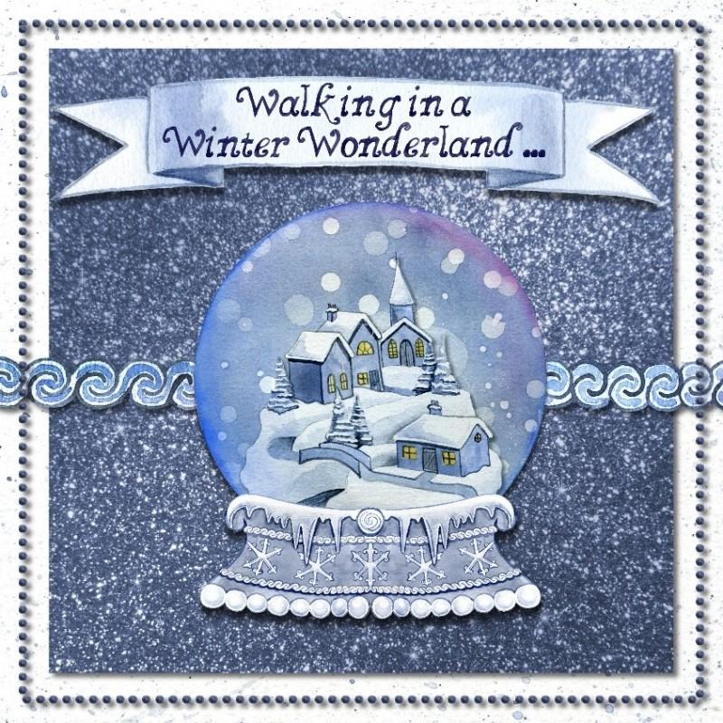 手绘冬日雪花玻璃球